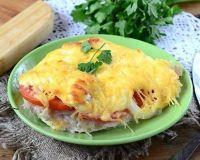 Куриная грудка в шубке под сыром с картофелем