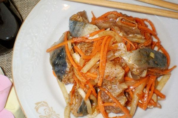 Удивительно вкусная селедка по-корейски
