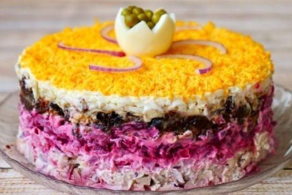 Праздничный салат «Граф»