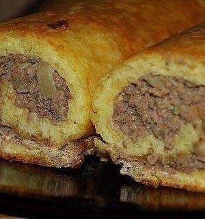 Сырно-мясной рулет— просто объеденье