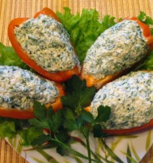 Закуска из болгарского перца с сыром