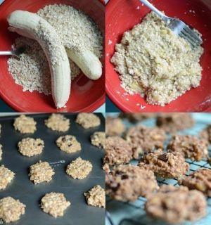 Банановое печенье за 15 минут