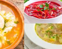 Следующие три супчика для диеты 5, приготовленные на овощном отваре