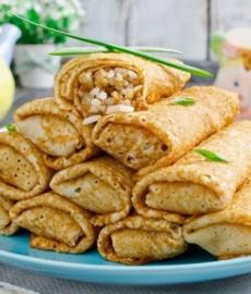 Начинка для блинчиков с рисом и мясом