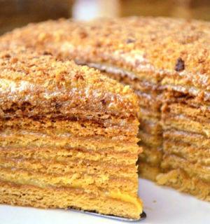 Торт «Медовый пух»