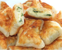 Конвертики с сыром на кефире