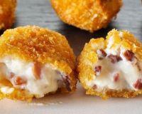Картофельные зразы с начинкой из ветчины и сыра