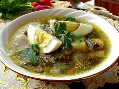 суп зелёный