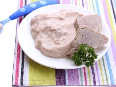 Мясное пюре с овощам