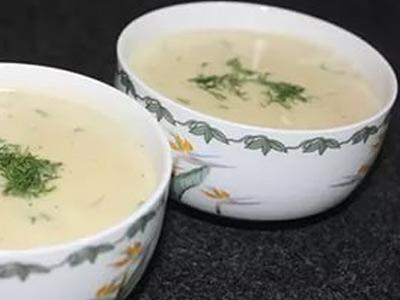 Молочный суп с добавлением укропа
