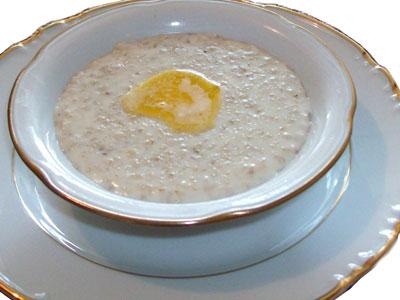 Суп (слизистый) с добавлением молока, овсянки и сливочного масла
