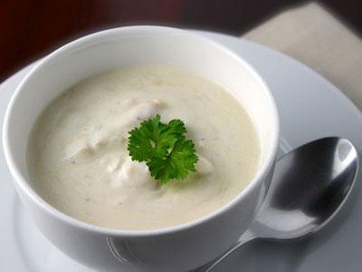 Суп с перловки (слизистый) с добавлением творога