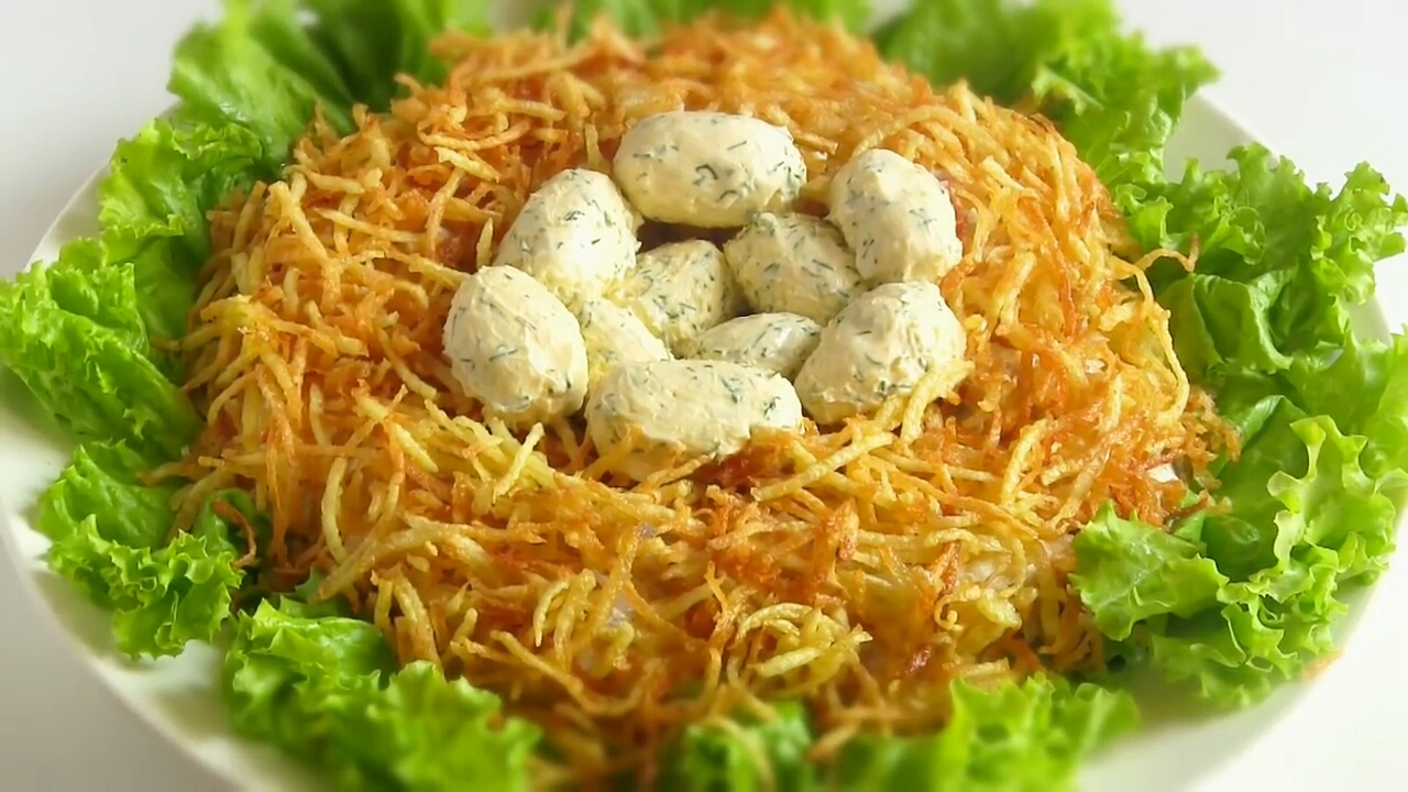 салат глухариное гнездо рецепт с фото пошагово почвах отсутствующим плодородным
